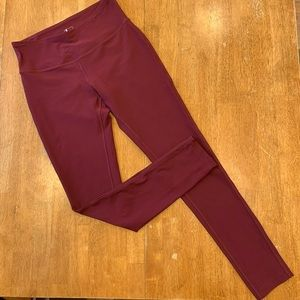 Mondetta Burgundy Athletic Leggings